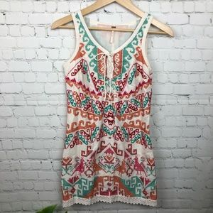 Free People Embroidered Mini Dress Size 6